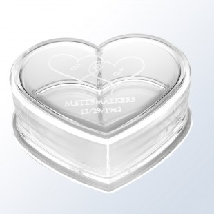 Acrylic Heart Box
