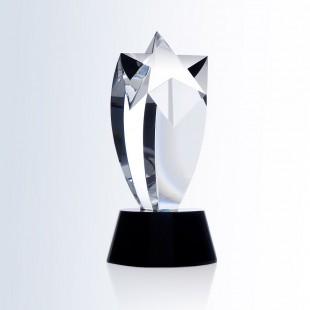 Rising Star Award - Black Round Base