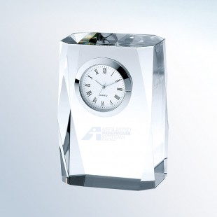 Beveled Column Clock