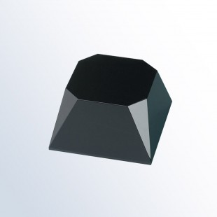 Black Beveled Slant Base