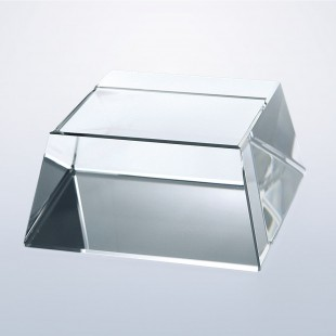 Clear Crystal Square Slant Base