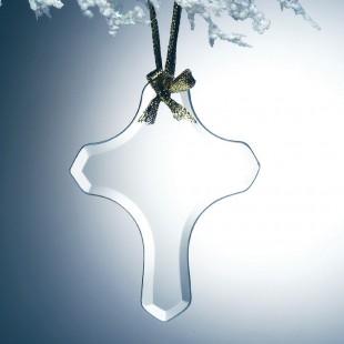 Glass Cross Ornament