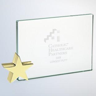 Achievement Award W/ Brass Star Holder