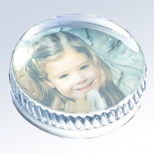 Round Photo Paperweight