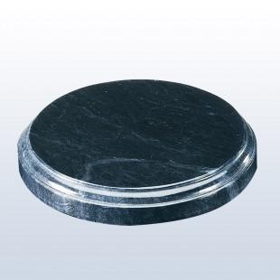 Black Marble Round Base