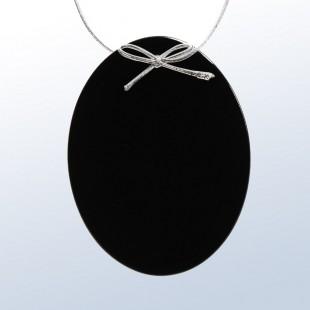 Color Oval Ornament Black