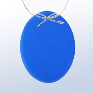 Color Oval Ornament Blue