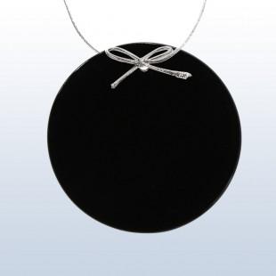 Color Circle Ornament Black