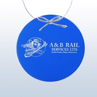 Color Circle Ornament Blue