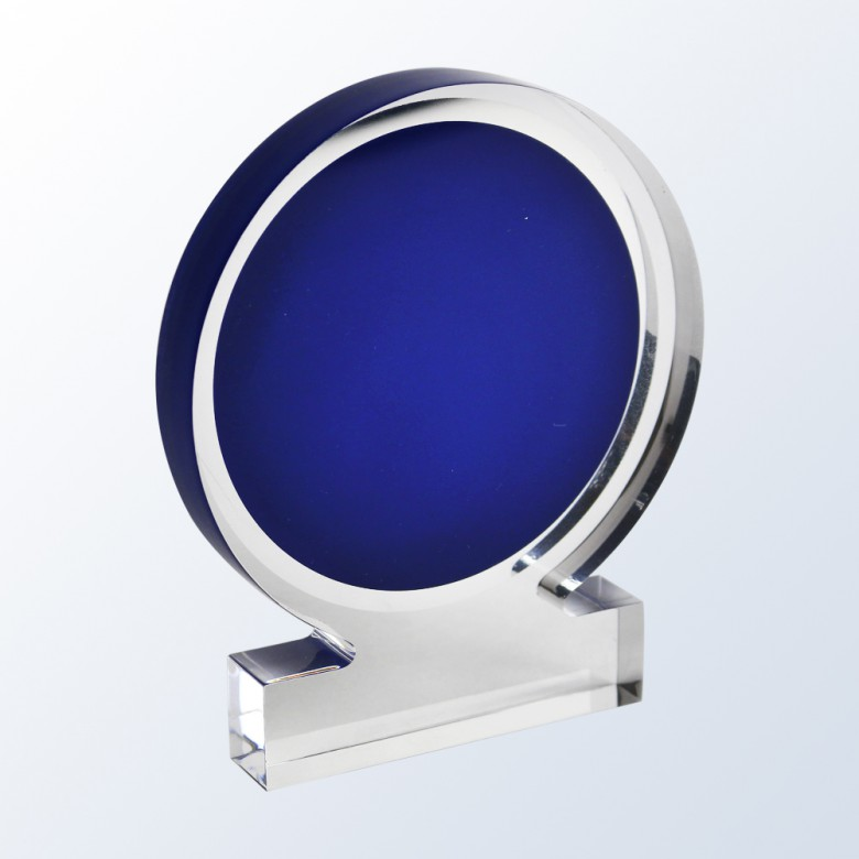 Acrylic Circle Award - Blue