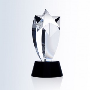 Rising Star Award - Black Round Base
