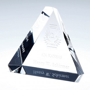 Beveled Triangle Paperweight