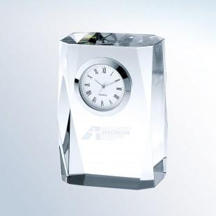 Beveled Column Clock