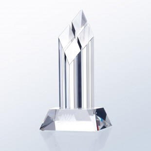 Superior Diamond Award - Clear Slant Base