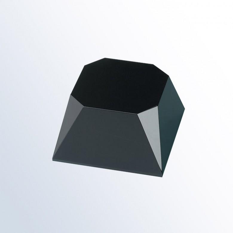 Black Beveled Slant Base