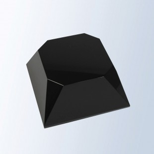 Black Beveled Four Sided Slant