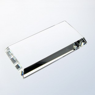 Clear Crystal Beveled Base