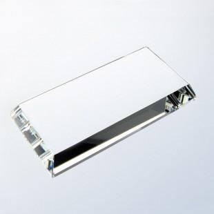 Clear Crystal Beveled Base