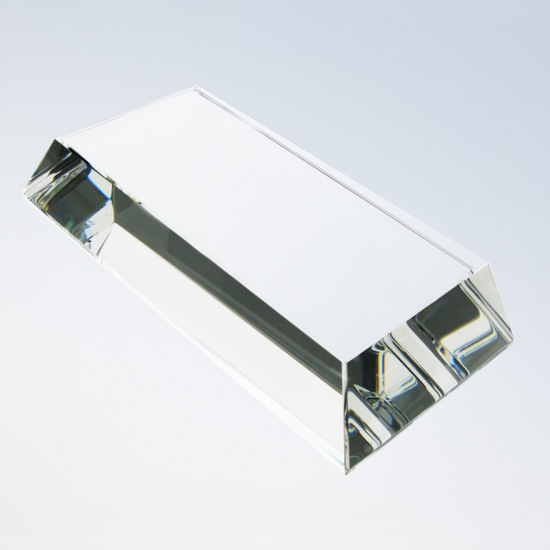 Clear Crystal Slant Rectangle Base