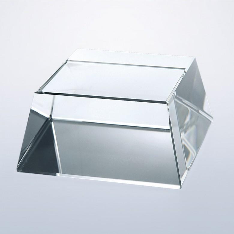 Clear Crystal Square Slant Base