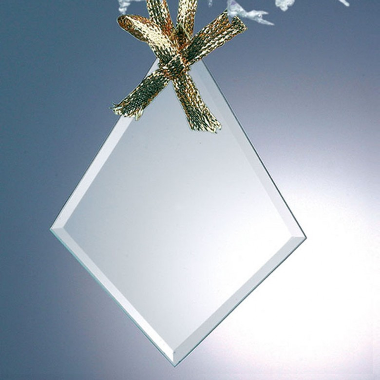 Glass Diamond Ornament