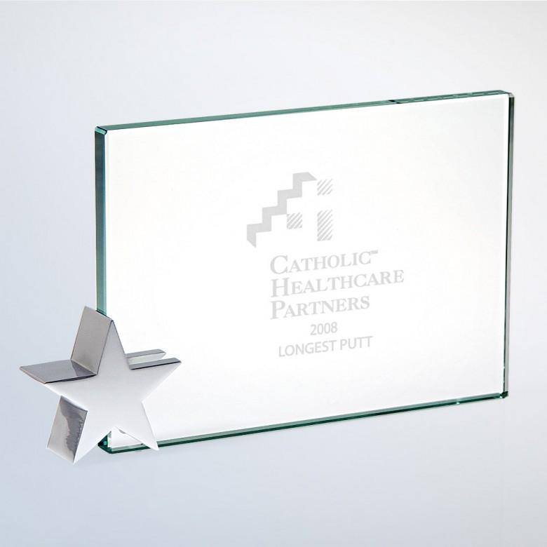 Achievement Award W/ Chrome Star Holder