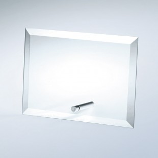 Beveled Horizontal Rectangle W/ Aluminum Pole