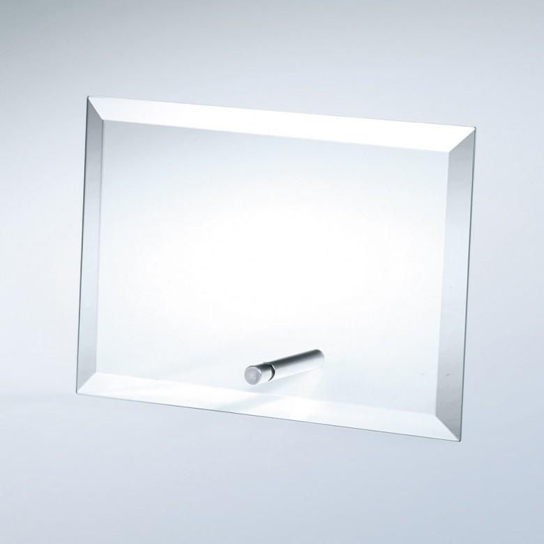 Beveled Horizontal Rectangle W/ Aluminum Pole