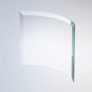 Beveled Bent Glass