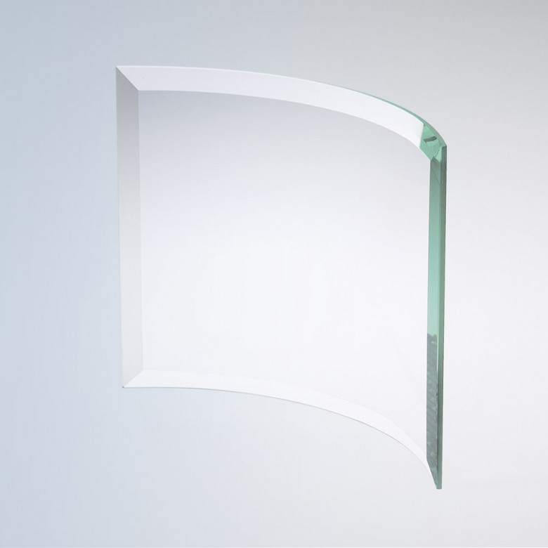 Beveled Bent Glass