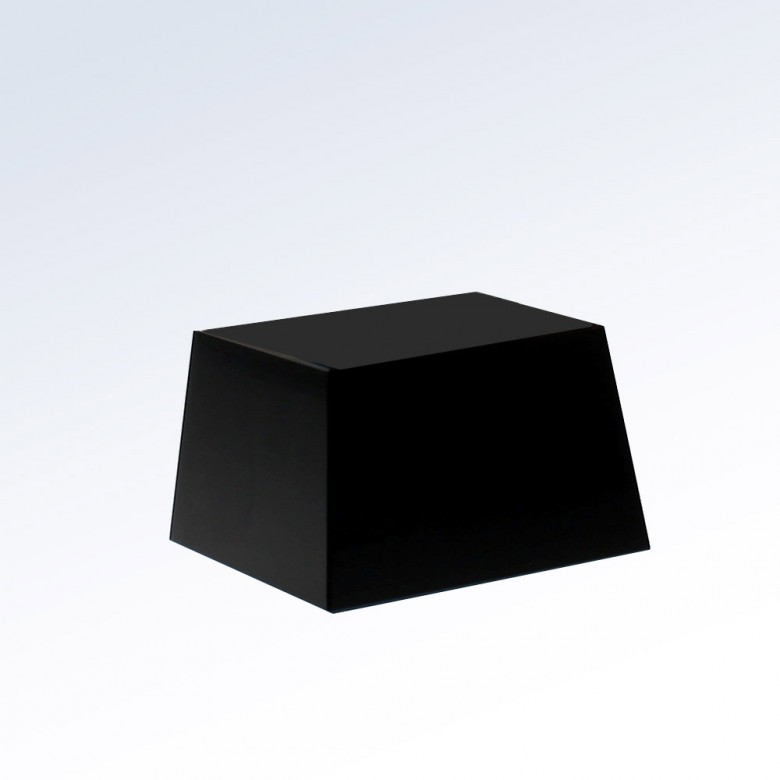 Black Crystal Slant Square Base