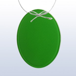 Color Oval Ornament Green