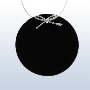 Color Circle Ornament Black