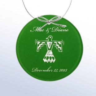 Color Circle Ornament Green