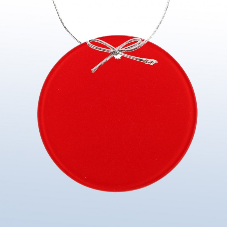 Color Circle Ornament Red