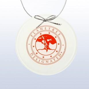 Color Circle Ornament White