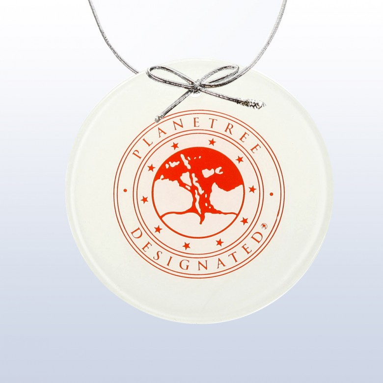 Color Circle Ornament White