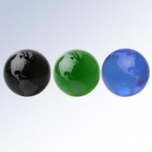 Black Globe-Flat Bottom
