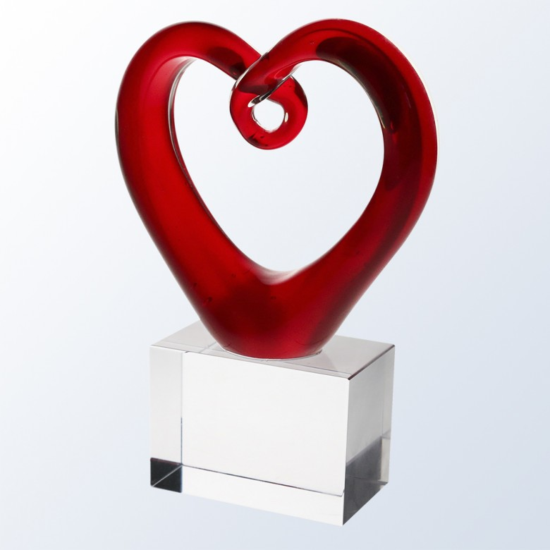 Red Heart w/ Clear Base